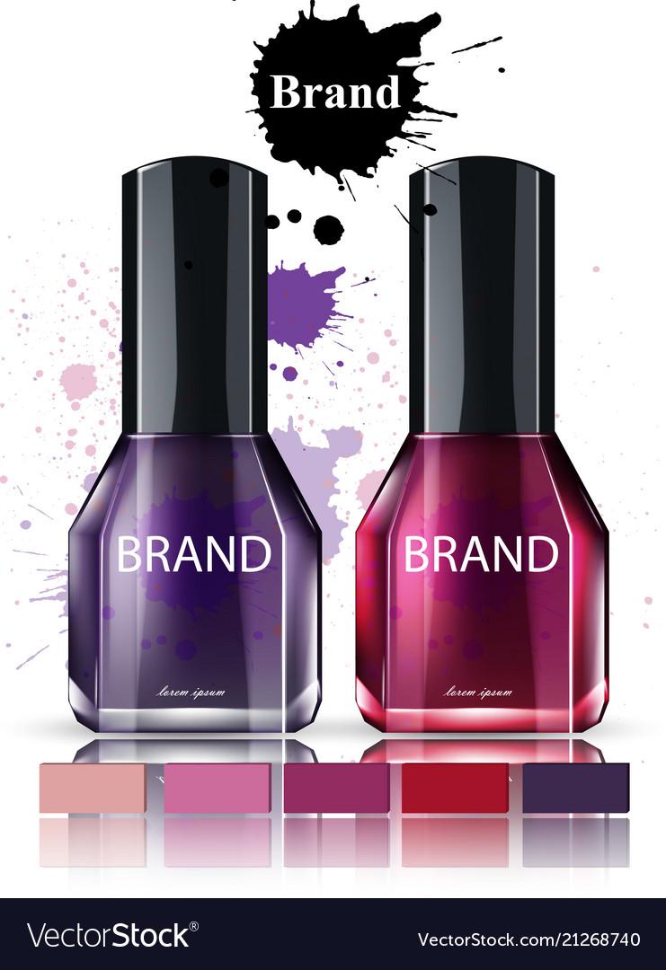 Nail polish cosmetics watercolor product