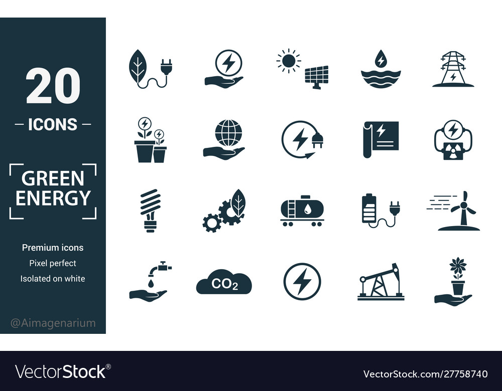 Power and energy icon set include creative