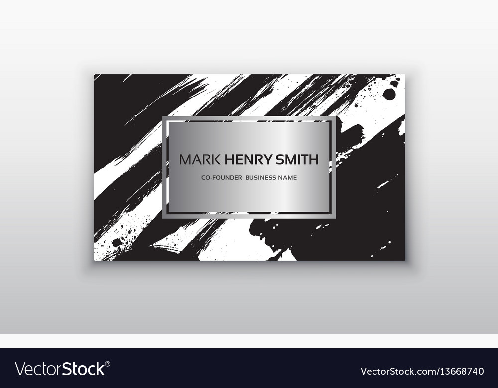 Set of black and silver design templates for vector image