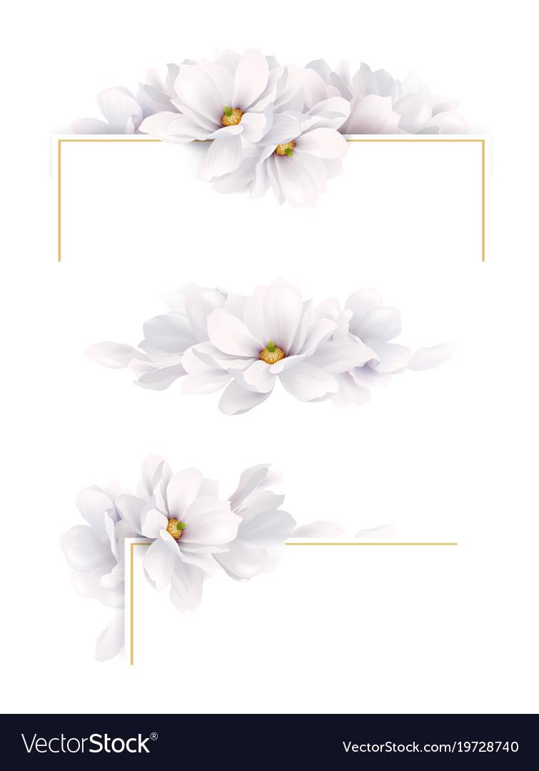 Set of three version of decoration invitation or