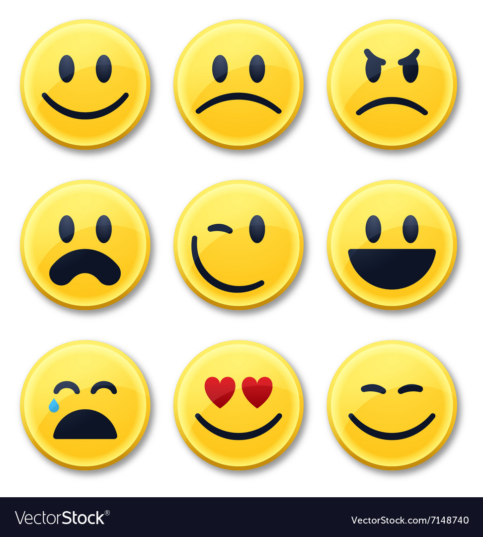 smiley and emotion faces royalty free vector image