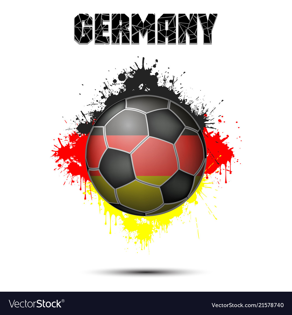 Soccer ball in the color of germany