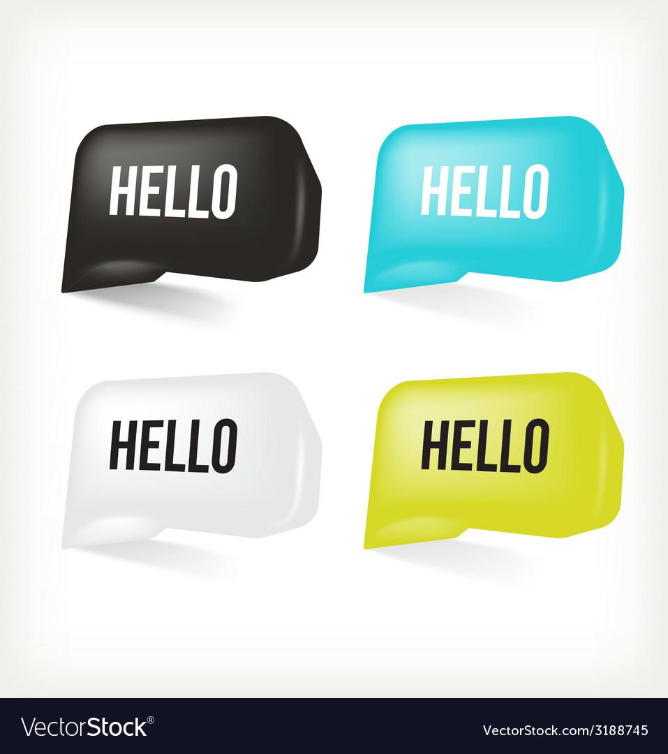 3D Message Hello
