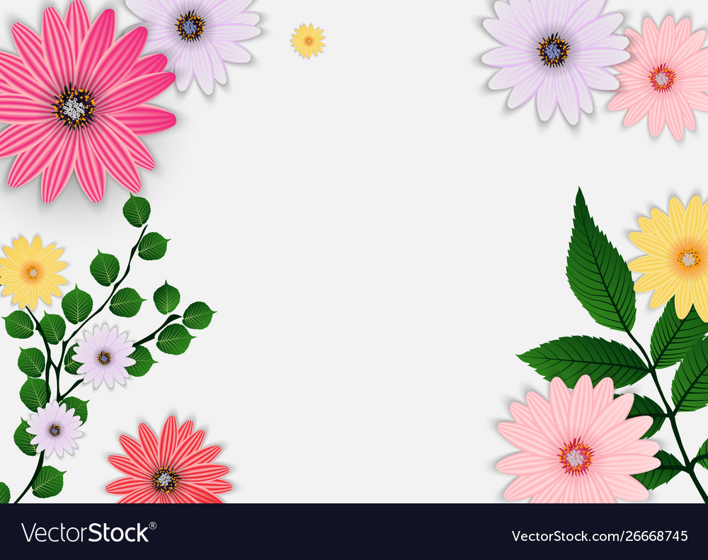 Abstract flower background template