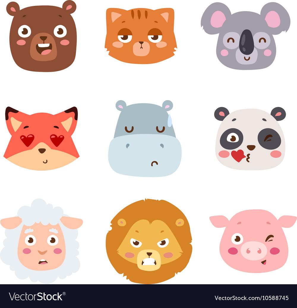Animal emotion avatar icon