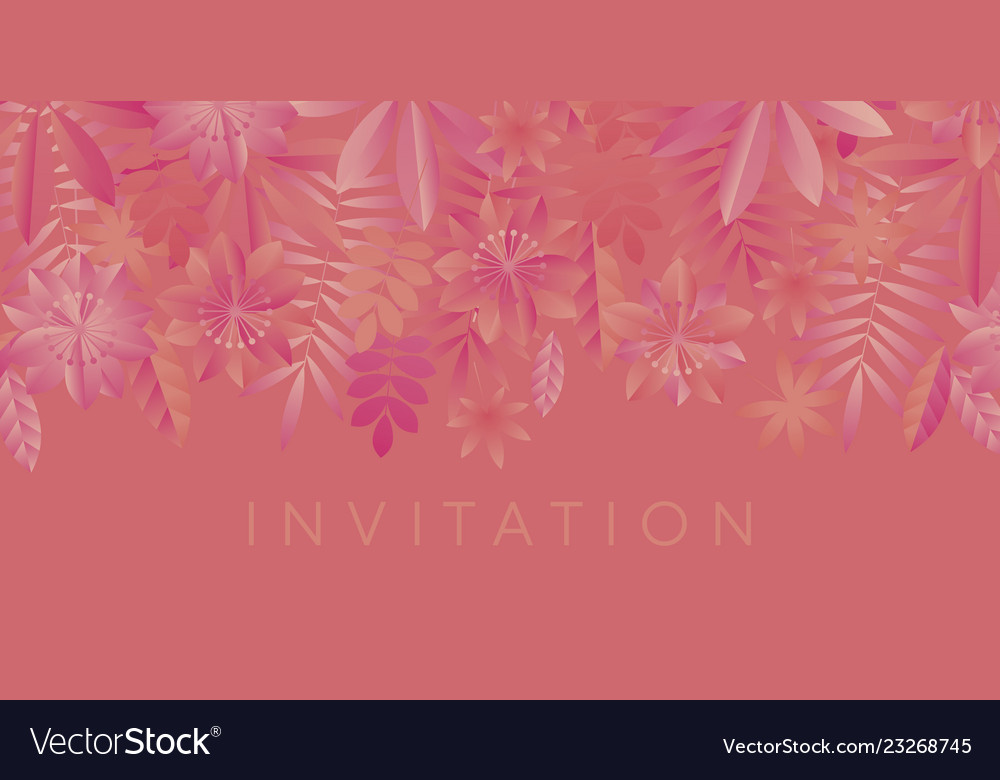 Coral color shades geometric minimal flowers