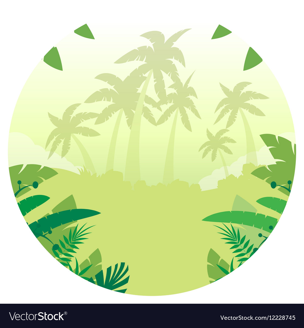 Jungle Flat Background15 vector image