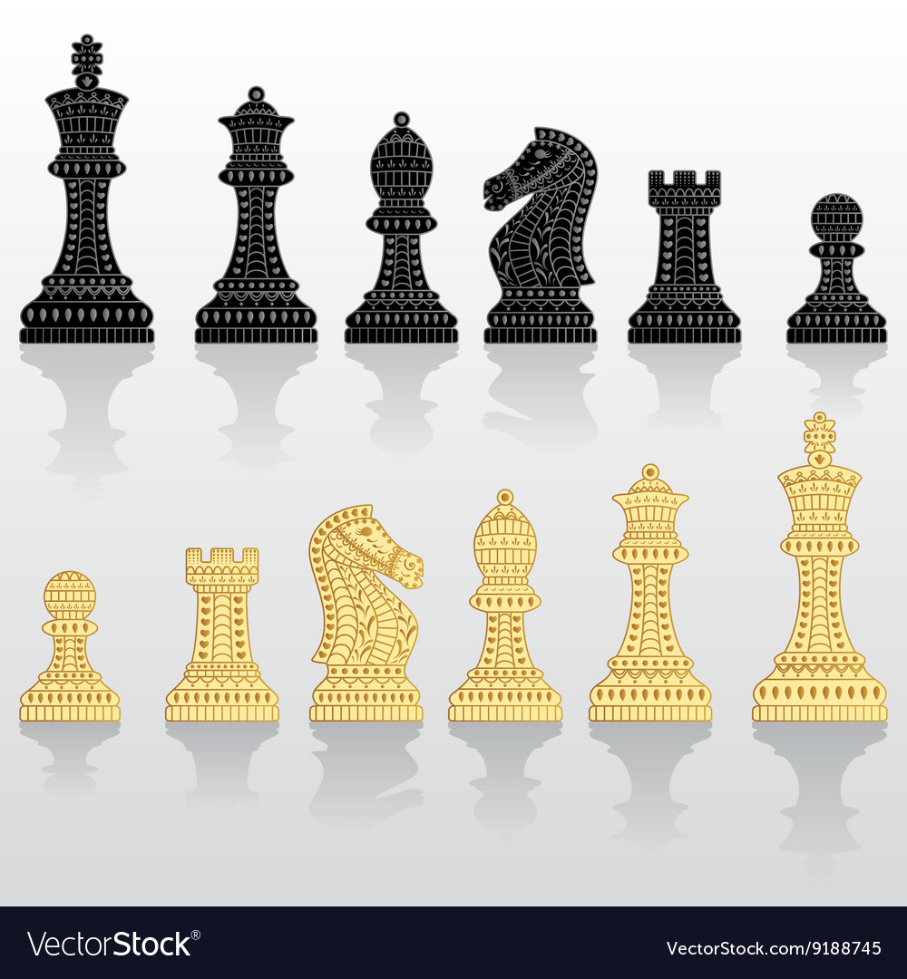 Set of all chess pieces