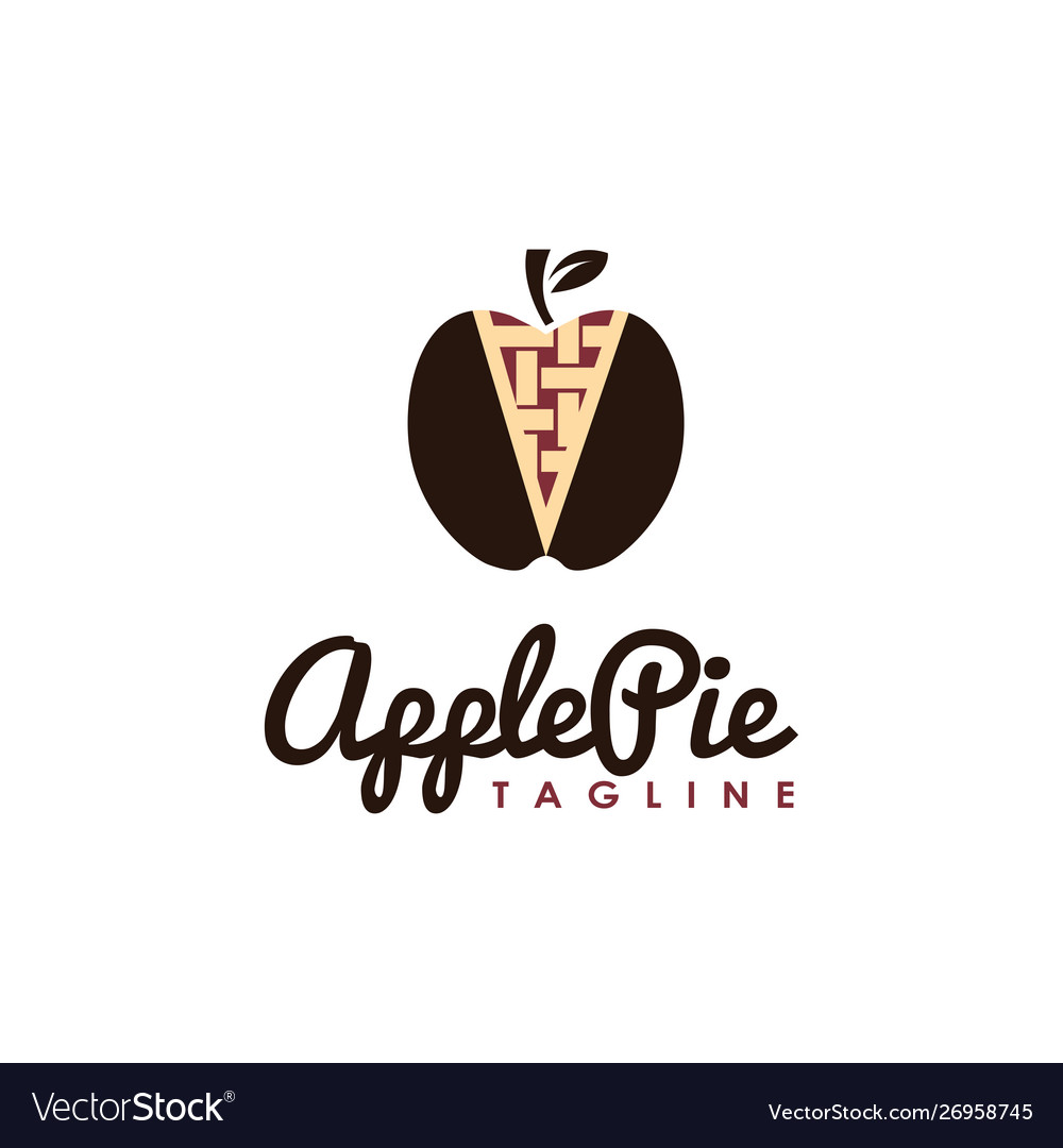 Vintage hipster retro apple pie logo
