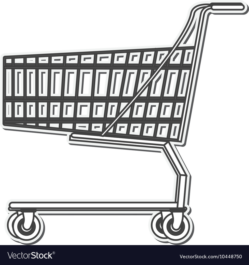 Black line shopping cart icon