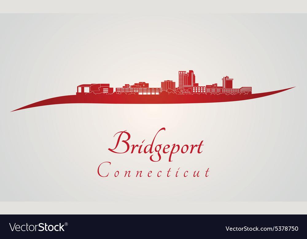 Bridgeport skyline in red