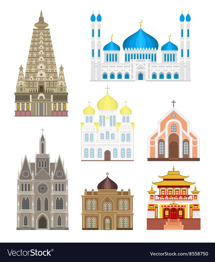 Cathedrals and churches infographic temple