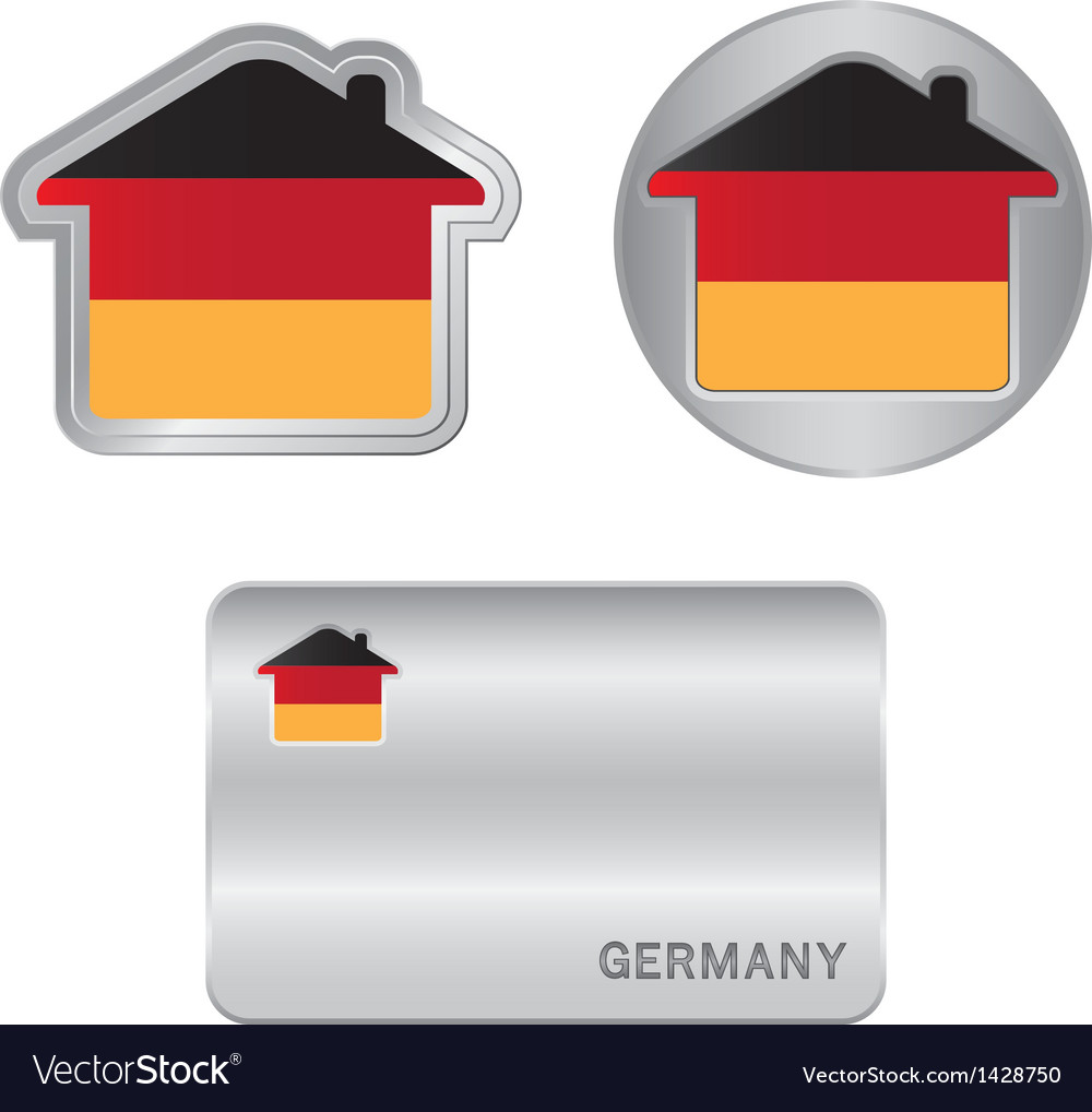 Home icon on the Germany flag