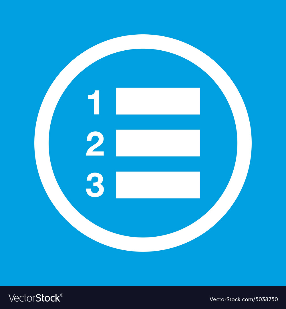 numbered list sign icon royalty free vector image