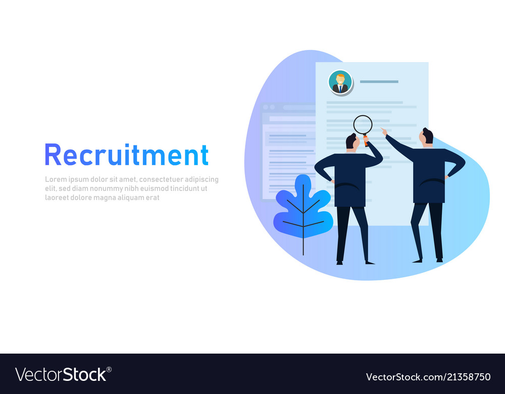 Recruitment process selecting candidate by human