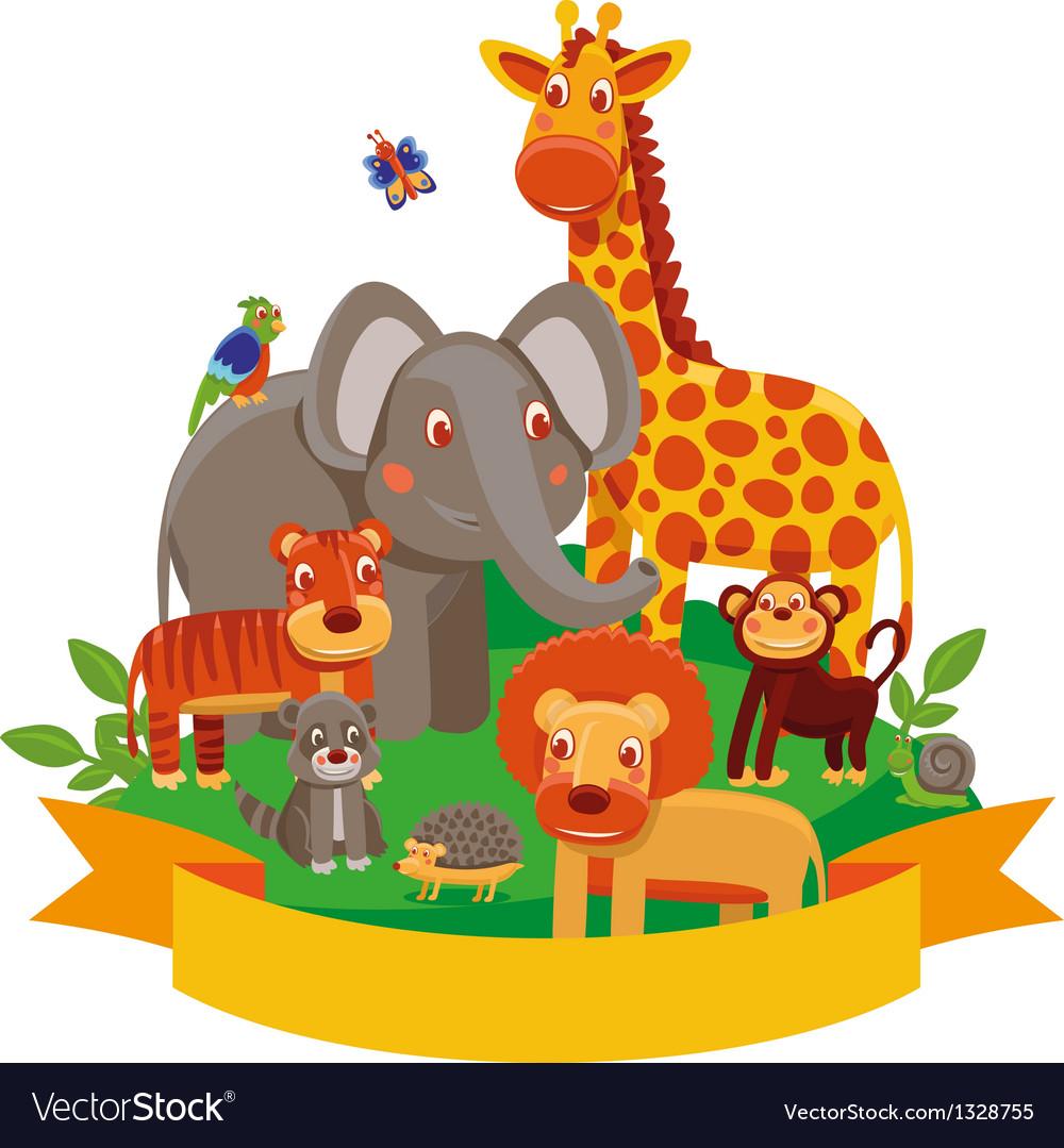 Cartoon animals - zoo