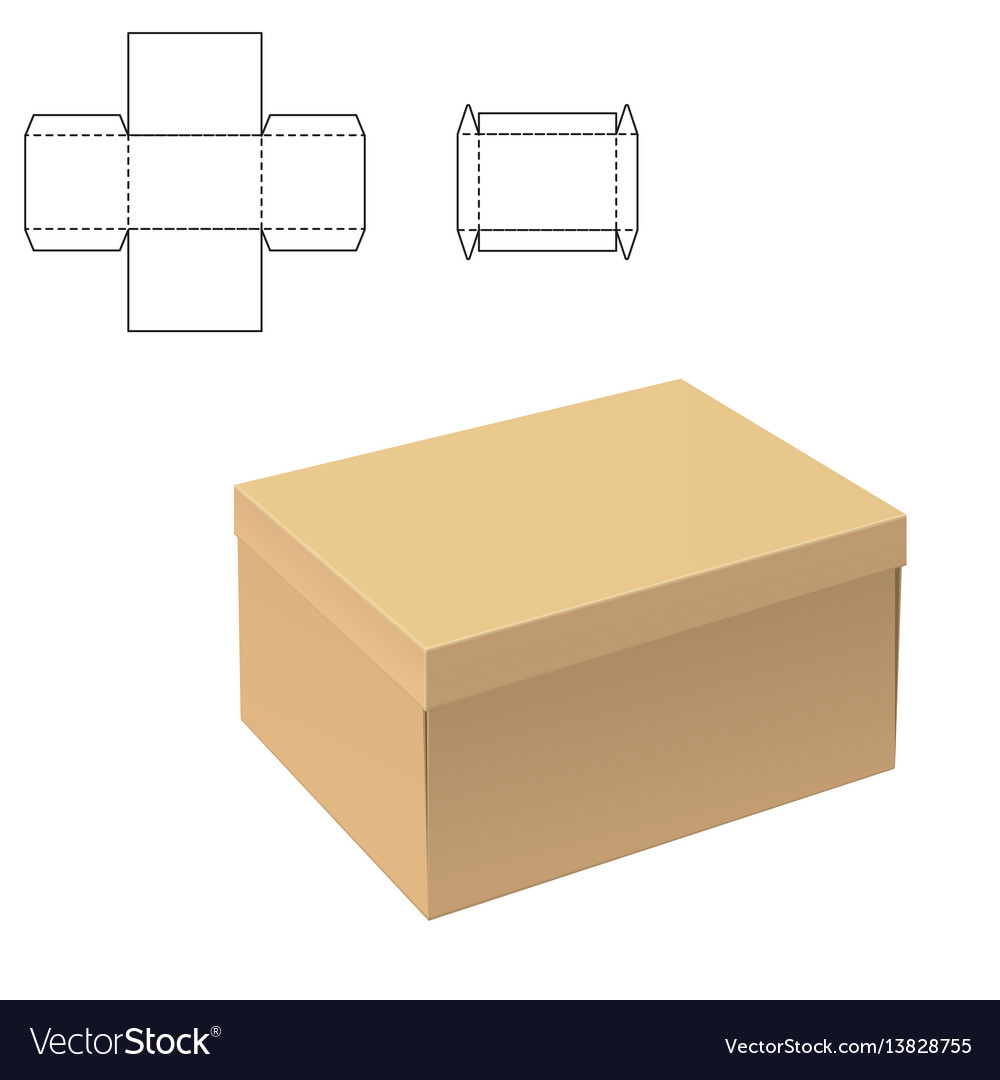 Clear carton box vector image
