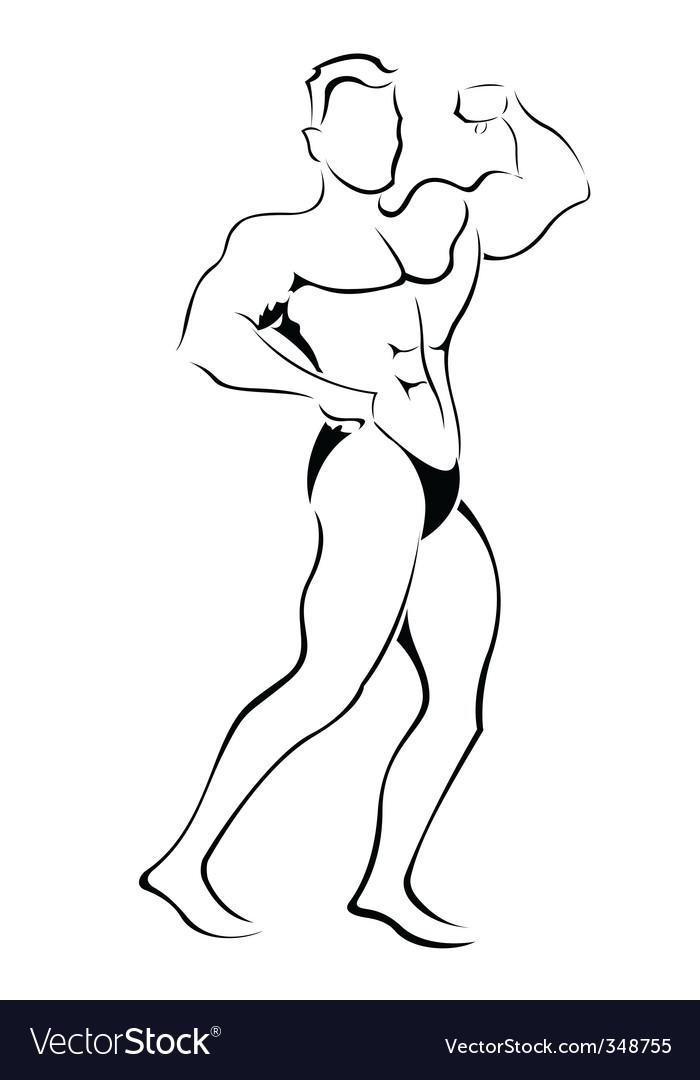 Muscle man sketch