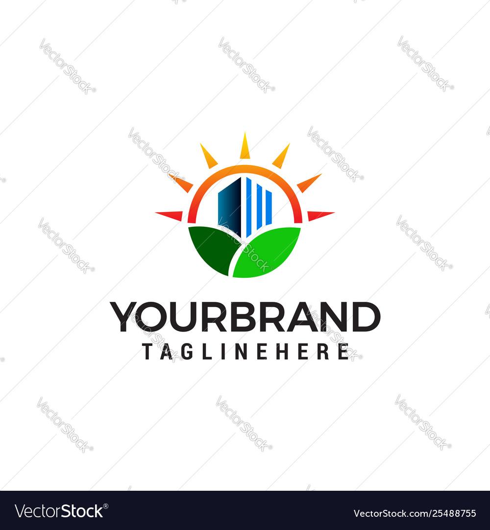 Nature real estate logo design concept template