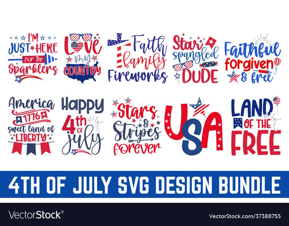United stated independence day bundle svg esp fil