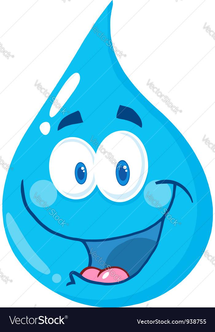 water drop cartoon character royalty free vector image rh vectorstock com cartoon water drops pictures cartoon water drop