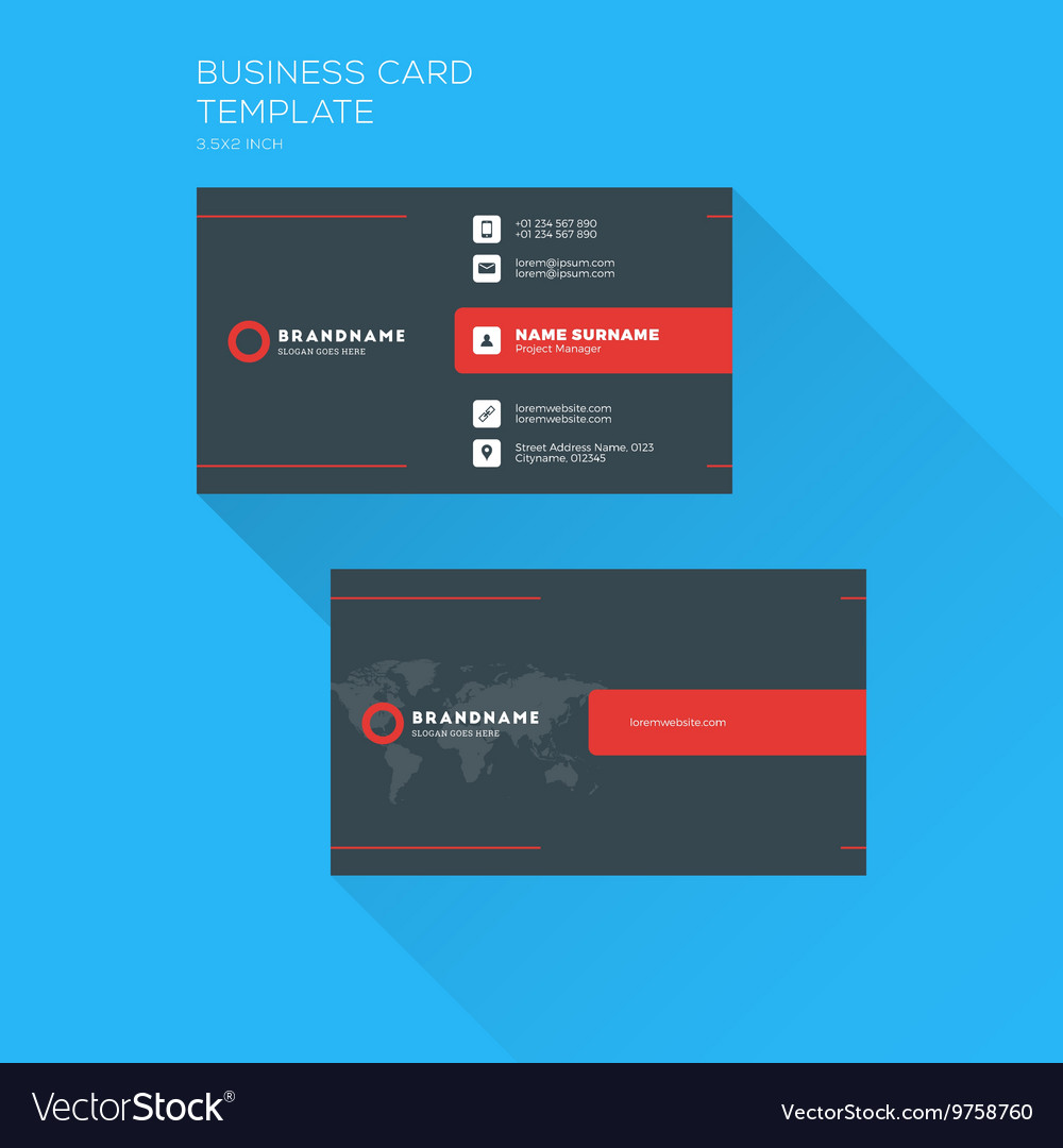 Corporate business card print template personal vector image cheaphphosting Choice Image