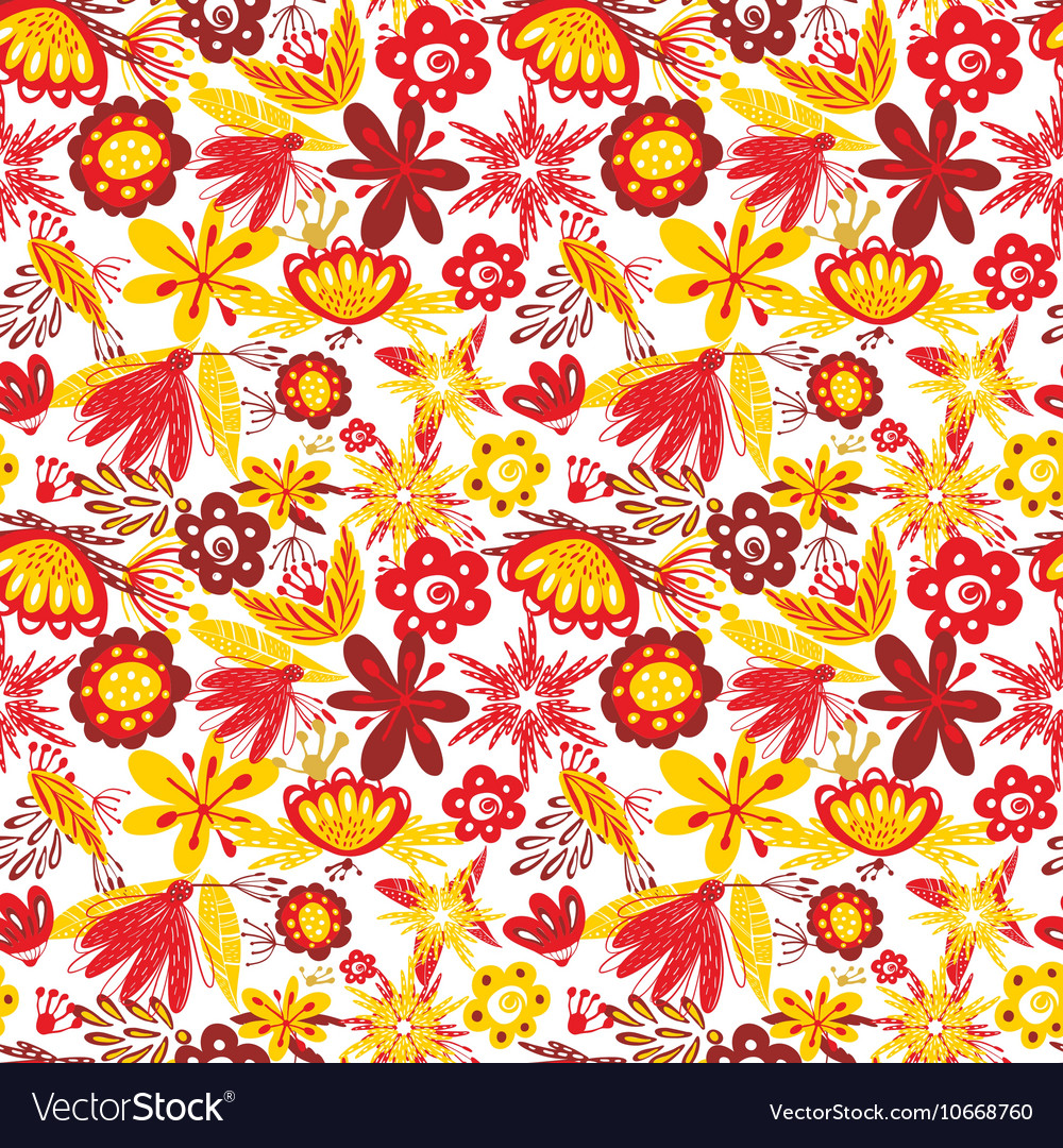 Excellent seamless pattern with with poppies and