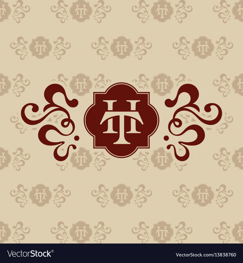Logo th letter business card