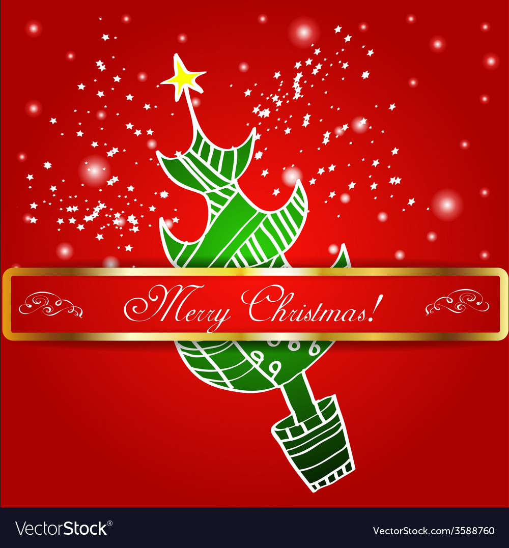 Christmas Graphics Background.Merry Christmas Tree Background