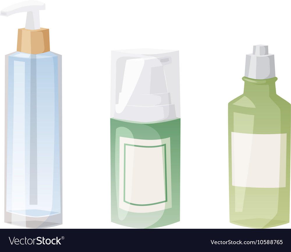 Cosmetics blank package box icon vector image