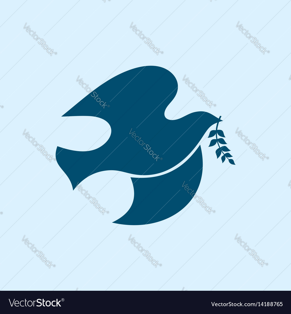 Dove Symbol Of The Holy Spirit Royalty Free Vector Image
