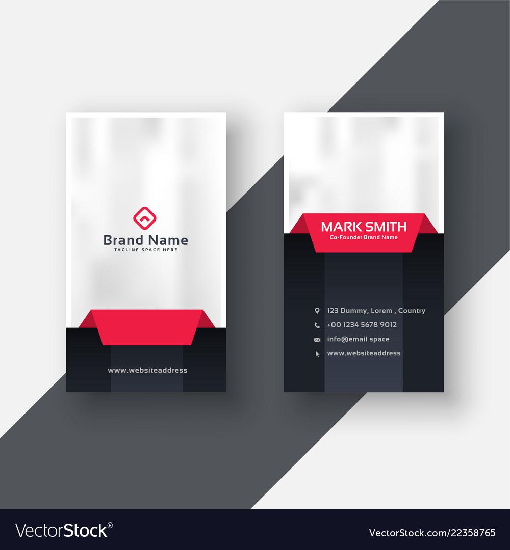 Professional vertical business card modern design Vector Image