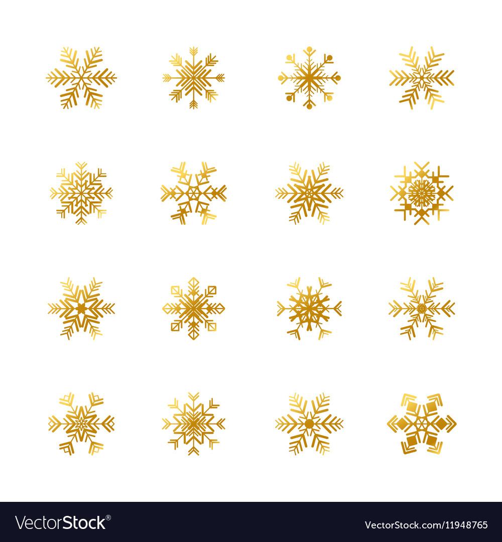 Snowflake icons set