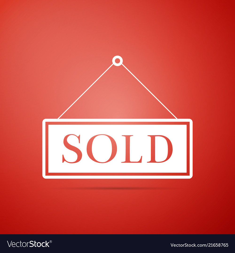 Sold sign isolated on red background sold sticker