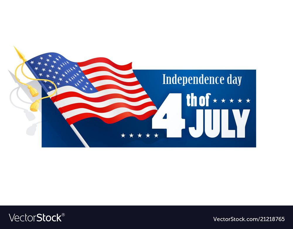 Usa flag at handle national