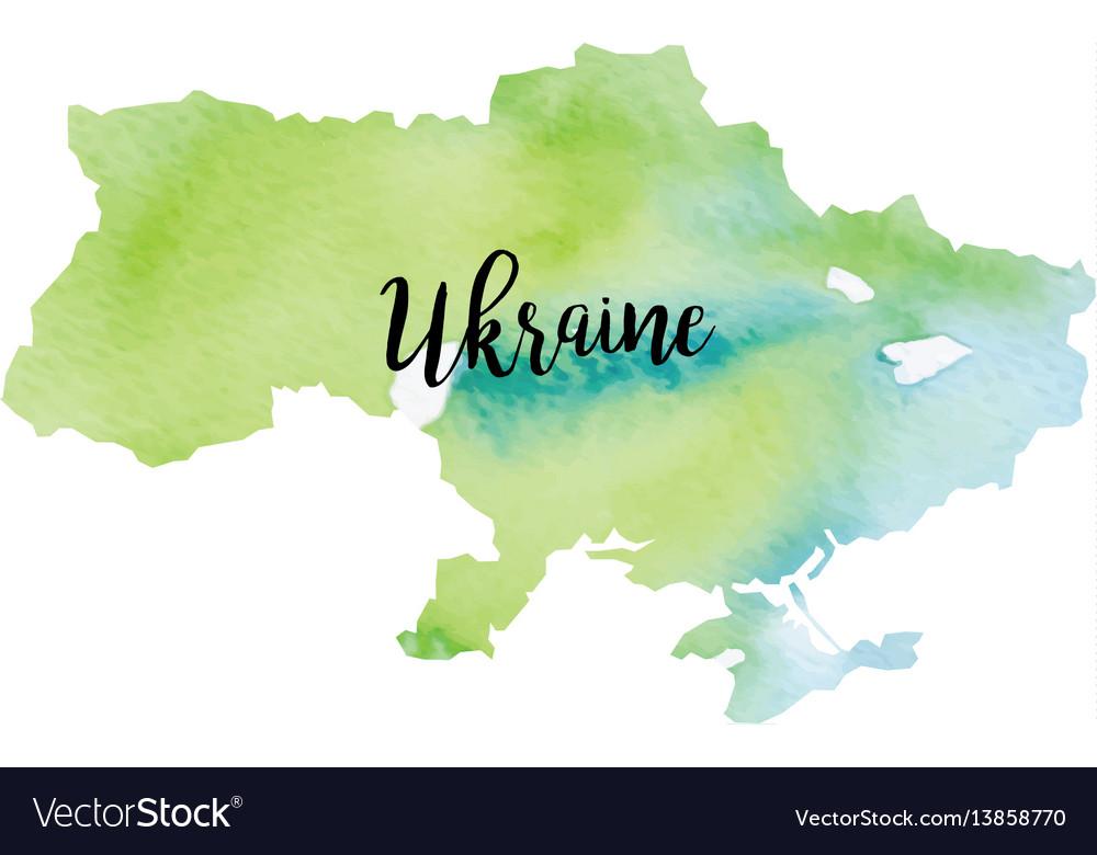 Abstract ukraine map