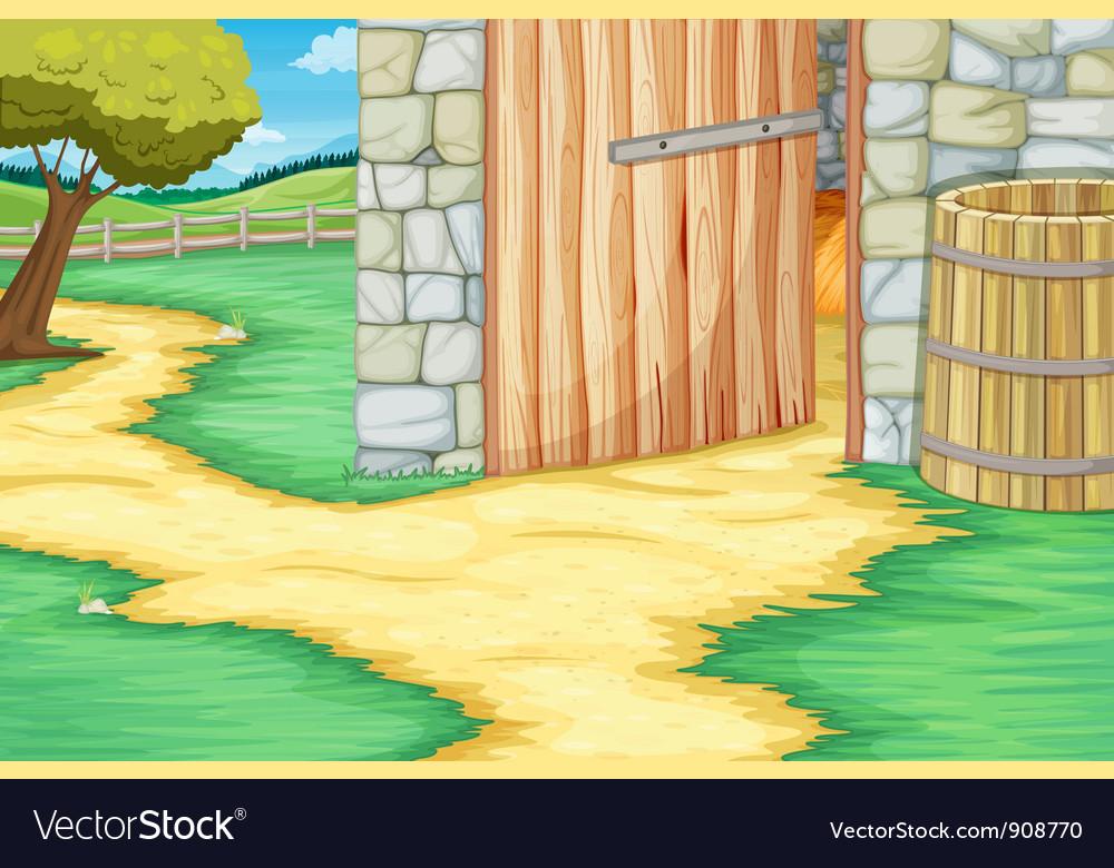 Barn door vector image