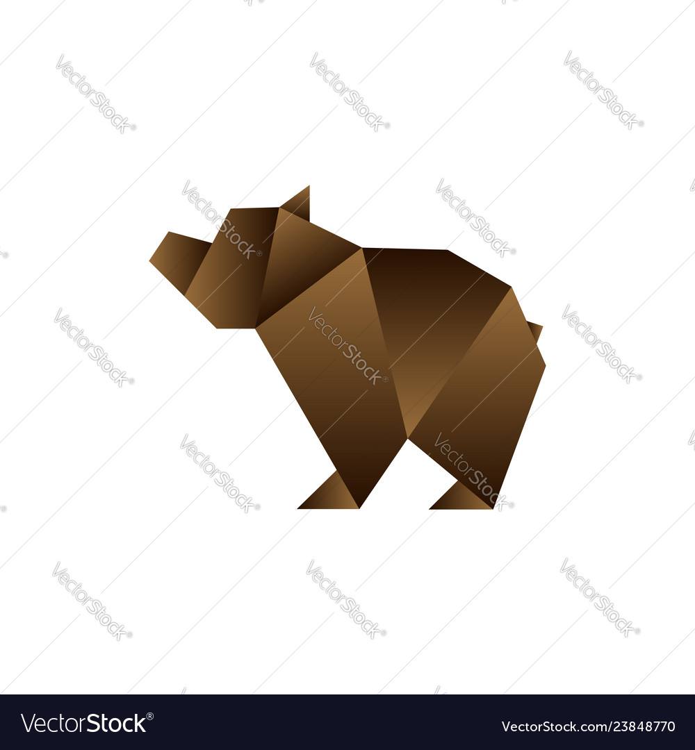 Bear in origami style