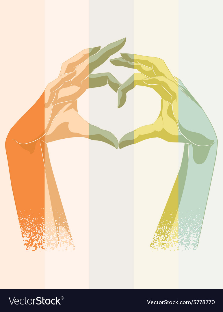 Double Exposure Of Heart Symbol Royalty Free Vector Image