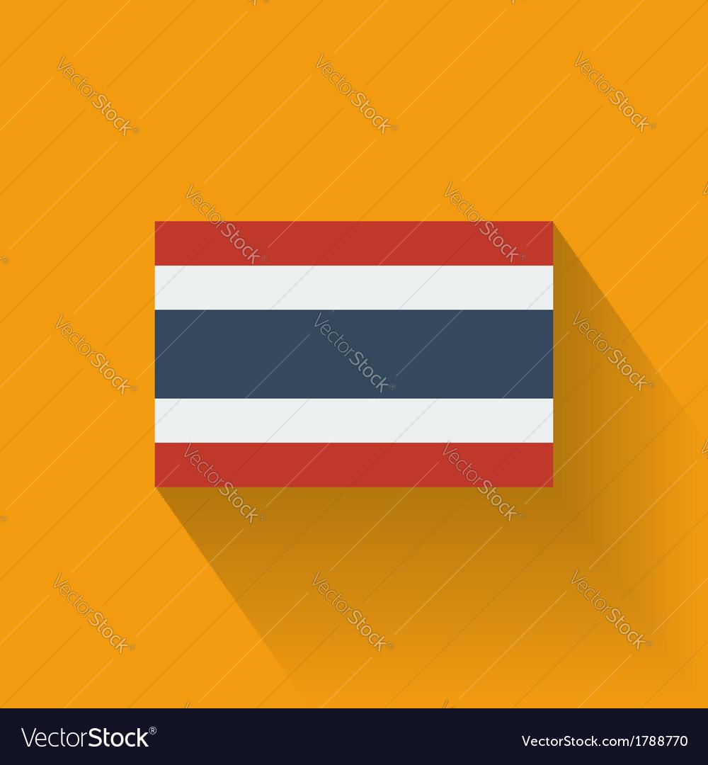 Flat flag of Thailand