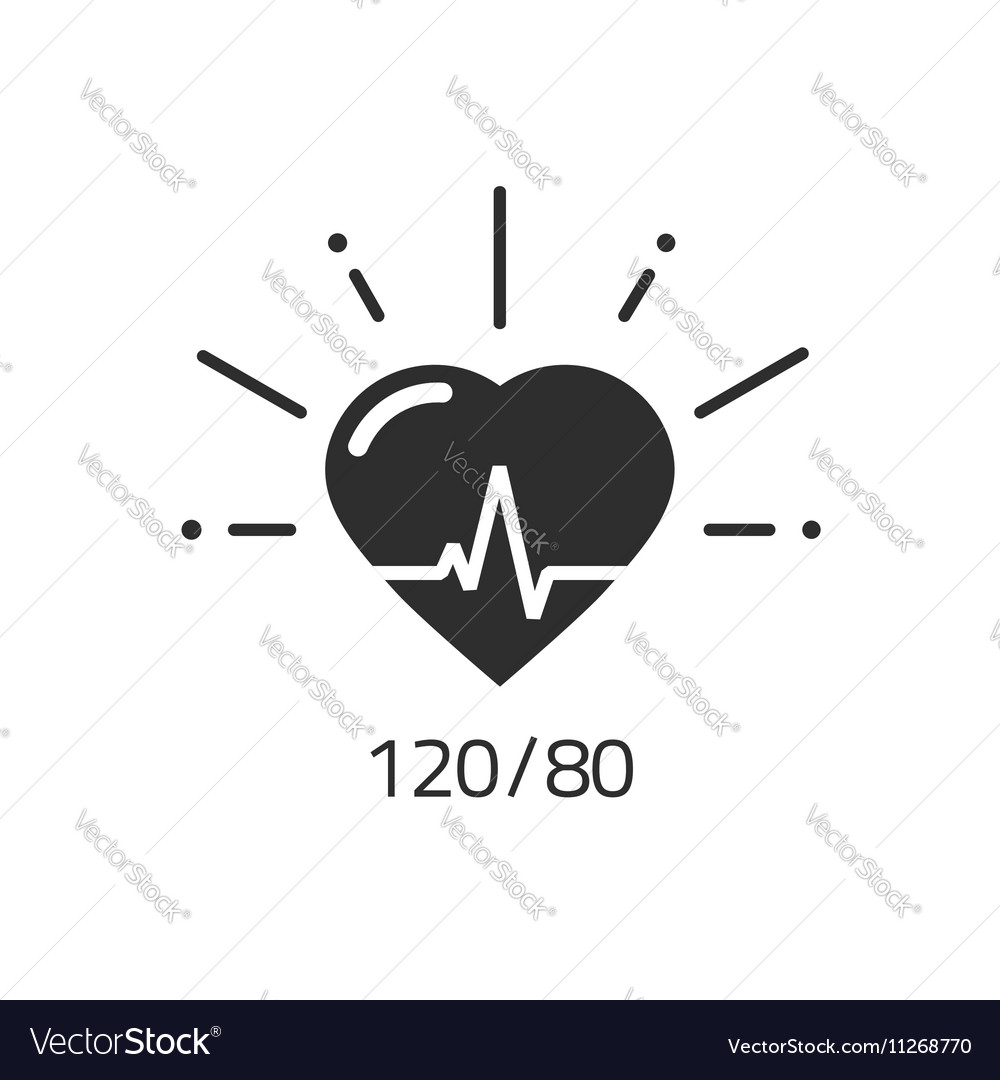Good health icon blood pressure numbers royalty free vector good health icon blood pressure numbers vector image ccuart Images