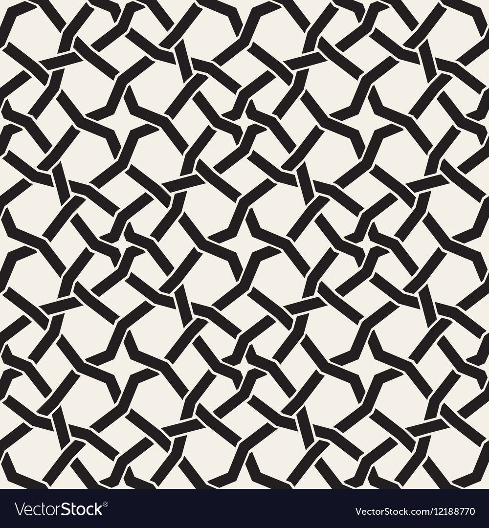 Seamless black and white islamic star