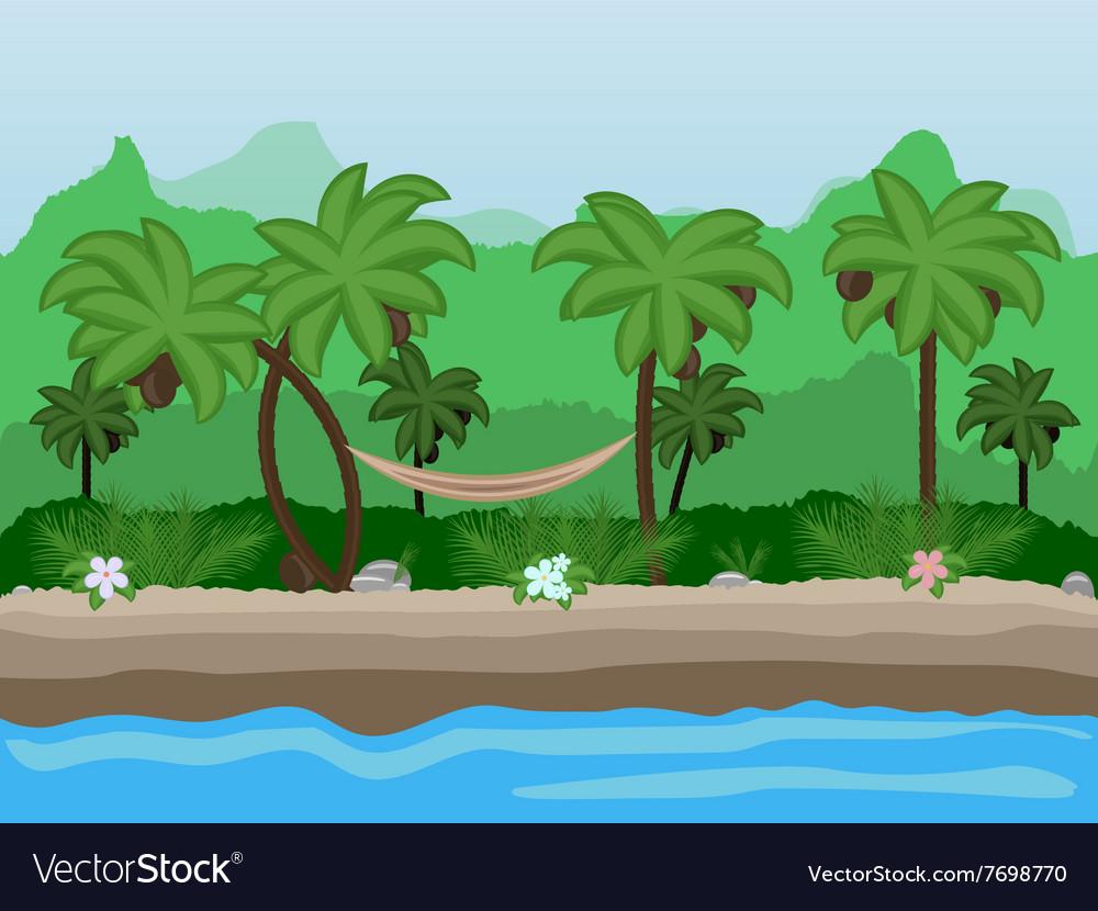 Seamless cartoon nature landscape unending