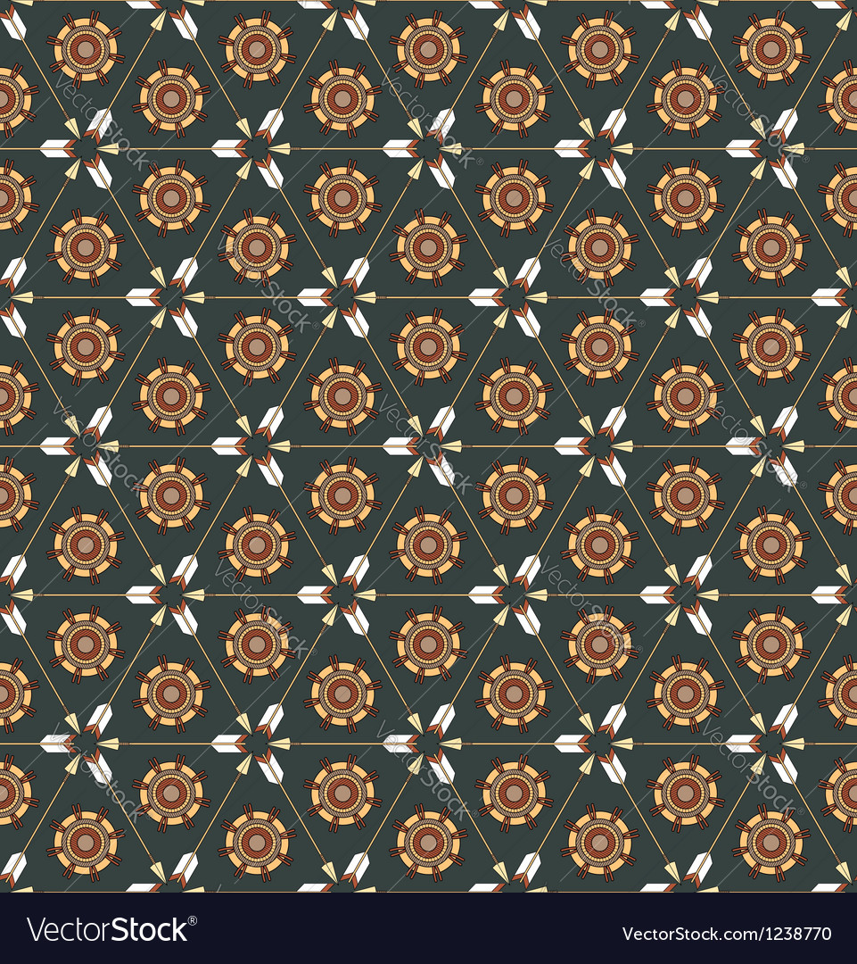 Seamless pattern with arrows and ethnic symbols