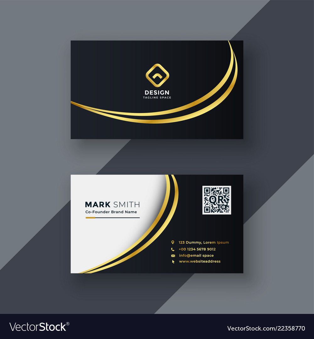 Creative Business Card Design Vector Image