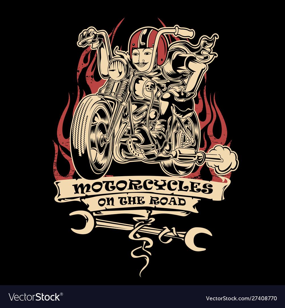 Vintage motorcye club ride road