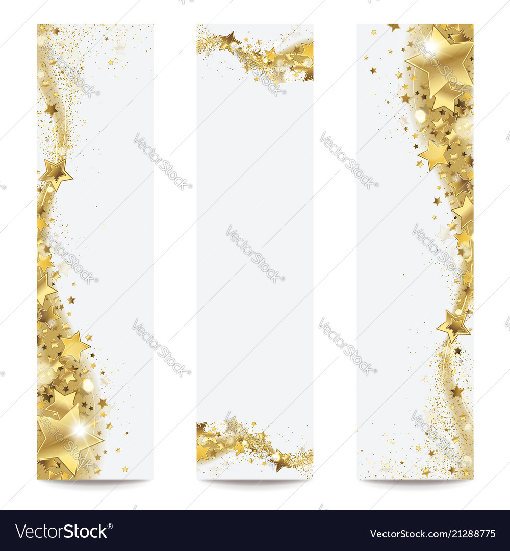 Banners with gold stars