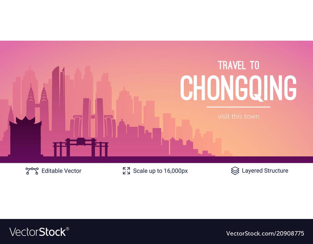 Chongqing famous china city scape