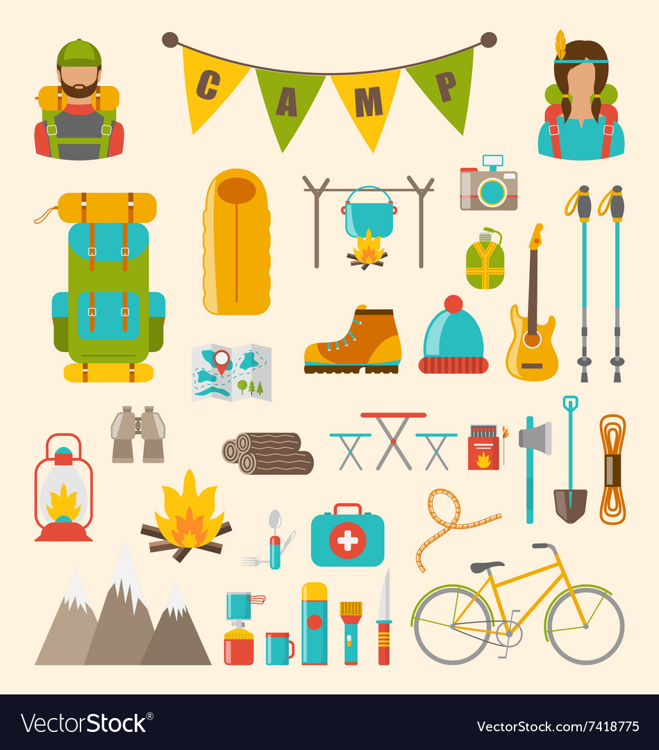 Collection of Camping and Hiking Equipment