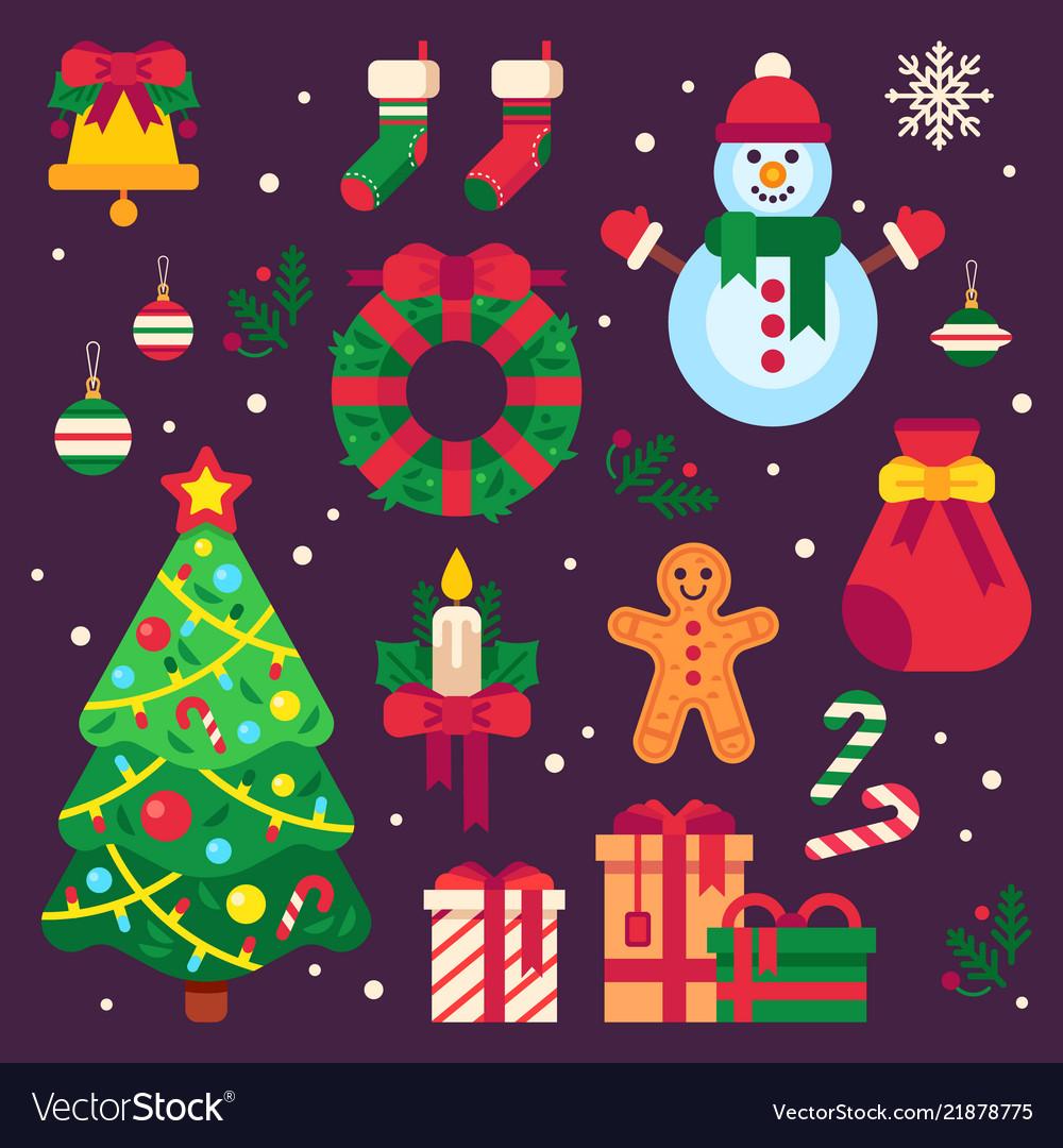Colorful christmas items xmas stocking garland